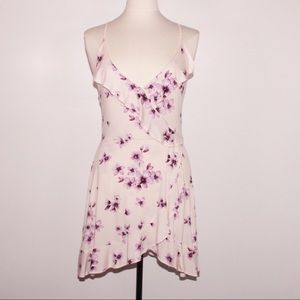 Pink with Cherry Blossoms Ruffle Dress Forever 21
